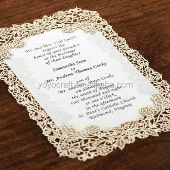 Alibaba Wedding Card Suppliers Hot Whole Good Quality Luxury Handmade Lace Laser Cut