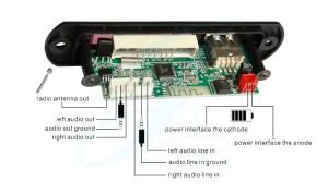 JLHBT66016 Bluetooth MP3 Module USB Radio Player Voice 5V