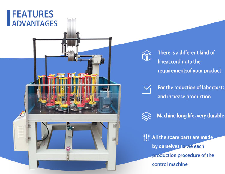 Rope Weaving Machine Wiring Harness Braiding Machine For