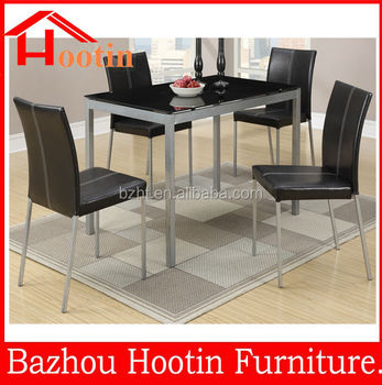 High Quality Home Furniture Kitchen Used 4 Chairs Glass