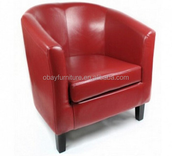 faux leather tub chair red bedroom sofa