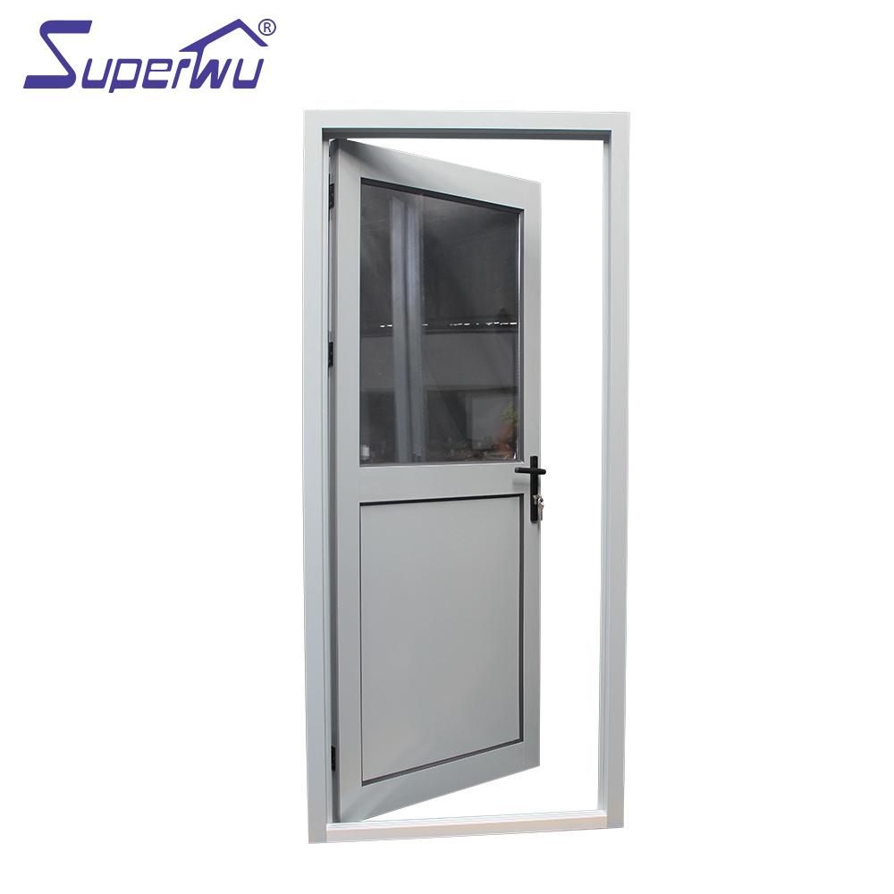 australie standard double vitrage en aluminium porte battante en verre demi panneau en aluminium porte battante pour residentiel buy aluminium