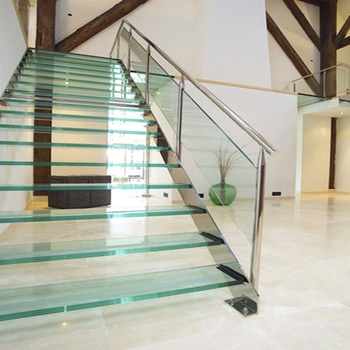 Indoor Crystal Frosted Glass Stair Glass Stair Railing Cost Buy   Glass Stair Railing Cost   Living Room   Glass Balustrade   Simple   Grill   Glass Wood Combined