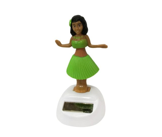 Get Quotations  C B Gessppohawaii Girl Car Solar Powered Dancing Animal Swinging Animated Bobble Dancer Application Auto Interior
