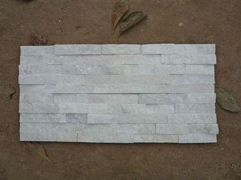 White Glacier Quartz Natural Split Wall Cladding Ledger