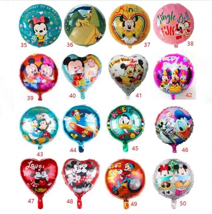 Happy Birthday Party Toys Inflatable 18 Inch Cartoon Character Animals Mickey Mouse Minnie Helium Aluminum Foil Balloons Globos Buy Happy Birthday Party Toys Inflatable 18 Inch Cartoon Character Animals Mickey Mouse