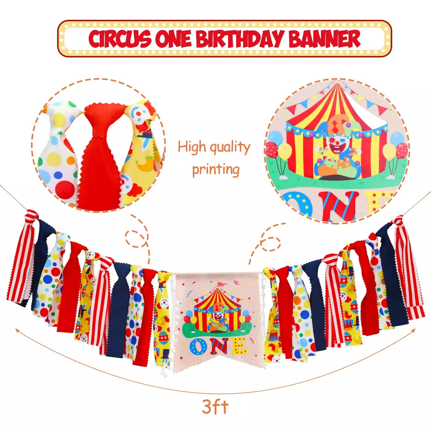 Easternhope Circus Carnival Theme 1st Birthday Banner 1st Birthday Decorations Buy 1st Birthday Decorations 1st Birthday Party Supply Circus Party Decoration Product On Alibaba Com