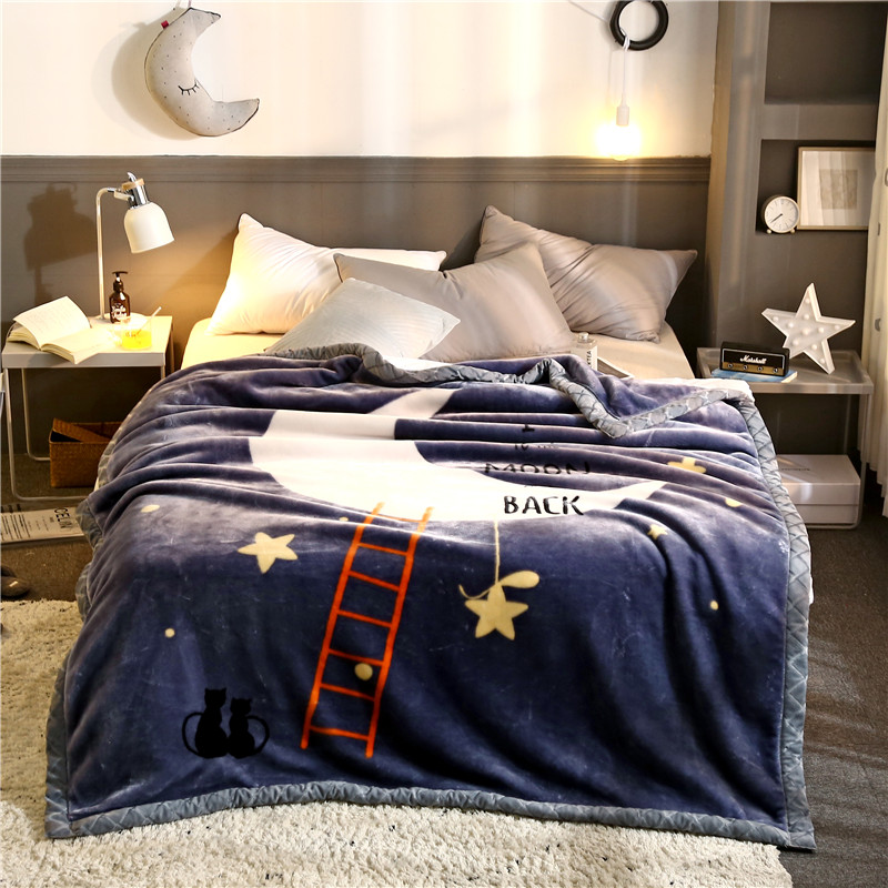 Personalized flannel polyester bedding blankets printed with your logo