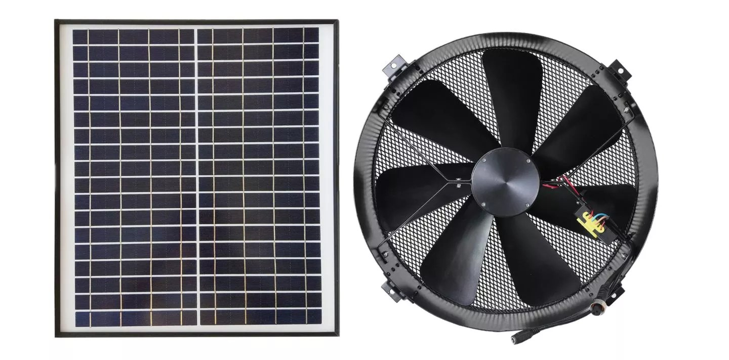 waterproof brushless dc motor driven 14 air duct 30w solar gable vent cool kit wall mounted stable cattle shed exhaust fan buy brushless dc