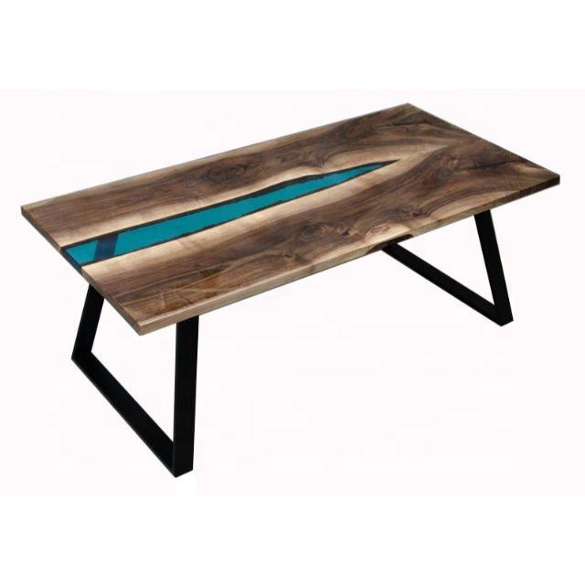 plateau en bois massif fait a la main en resine epoxy transparente bord live industriel table de riviere buy epoxy resine en bois massif mosaique