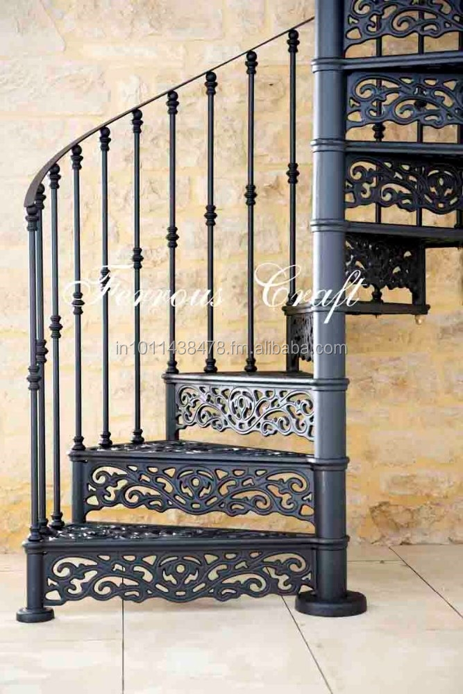 Cast Iron Spiral Staircase Buy Outdoor Spiral Staircase Wrought | Wrought Iron Spiral Staircase | Old | Plant Stand | Stair Case | Transitional | Narrow