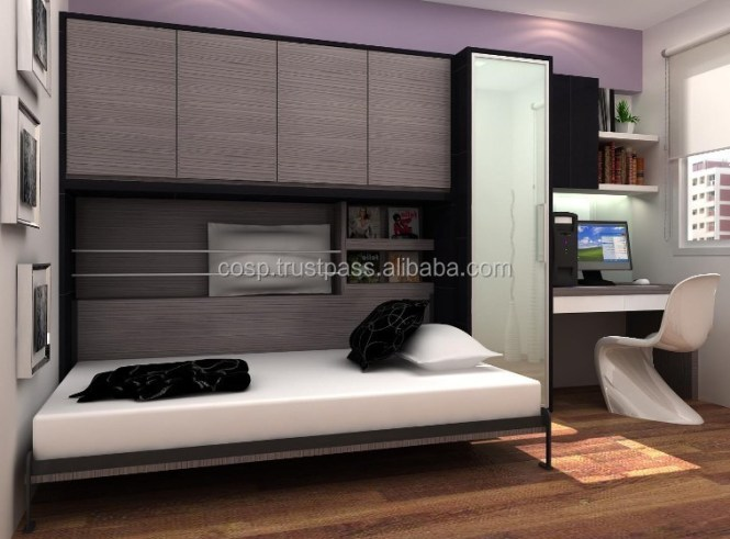 Folding Wall Bed At Platform Beds Ikea Image Of With Storage Black