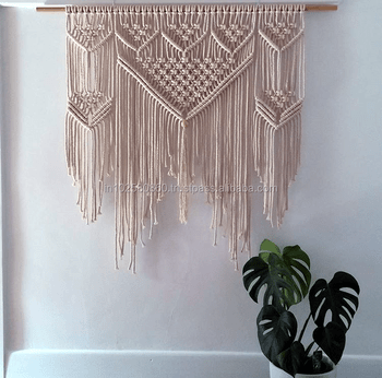 Wide Macrame Wall Hanging Boho Wall Decor Buy Gypsum