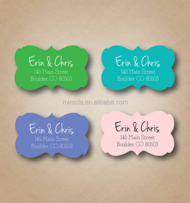Label Printing Personalized Address Labels Stickers Envelope Seals Wedding Invitation