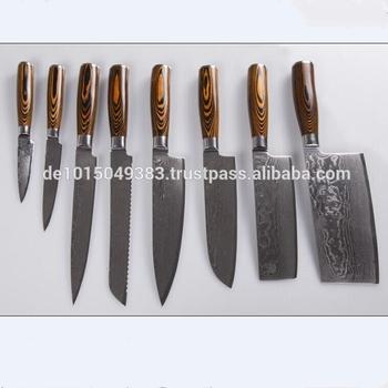 lot de 8 pcs ensemble de couverts et ensemble de couteaux de cuisine chine couteau