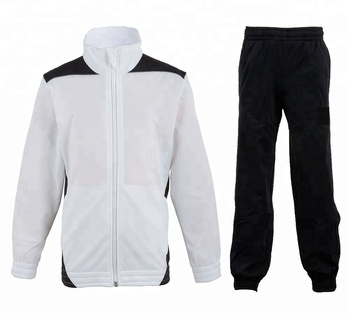 Micro twill track suit. White contrast micro twill track suit