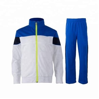 Micro twill track suit. Contrast panel micro twill track suit