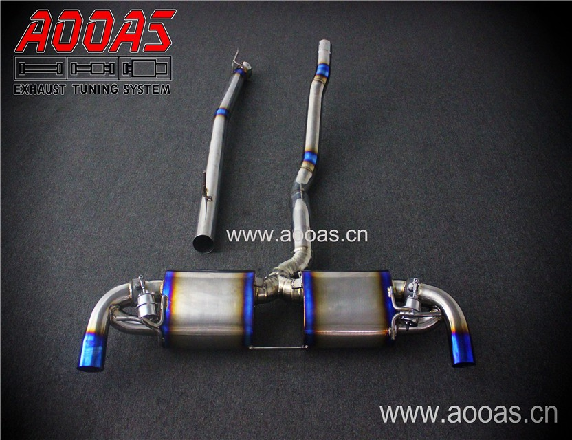 titanium exhaust amg parts middle pipe and exhaust rear muffler for mercedes benz a45 amg buy amg exhaust amg exhaust parts mercedes amg exhaust