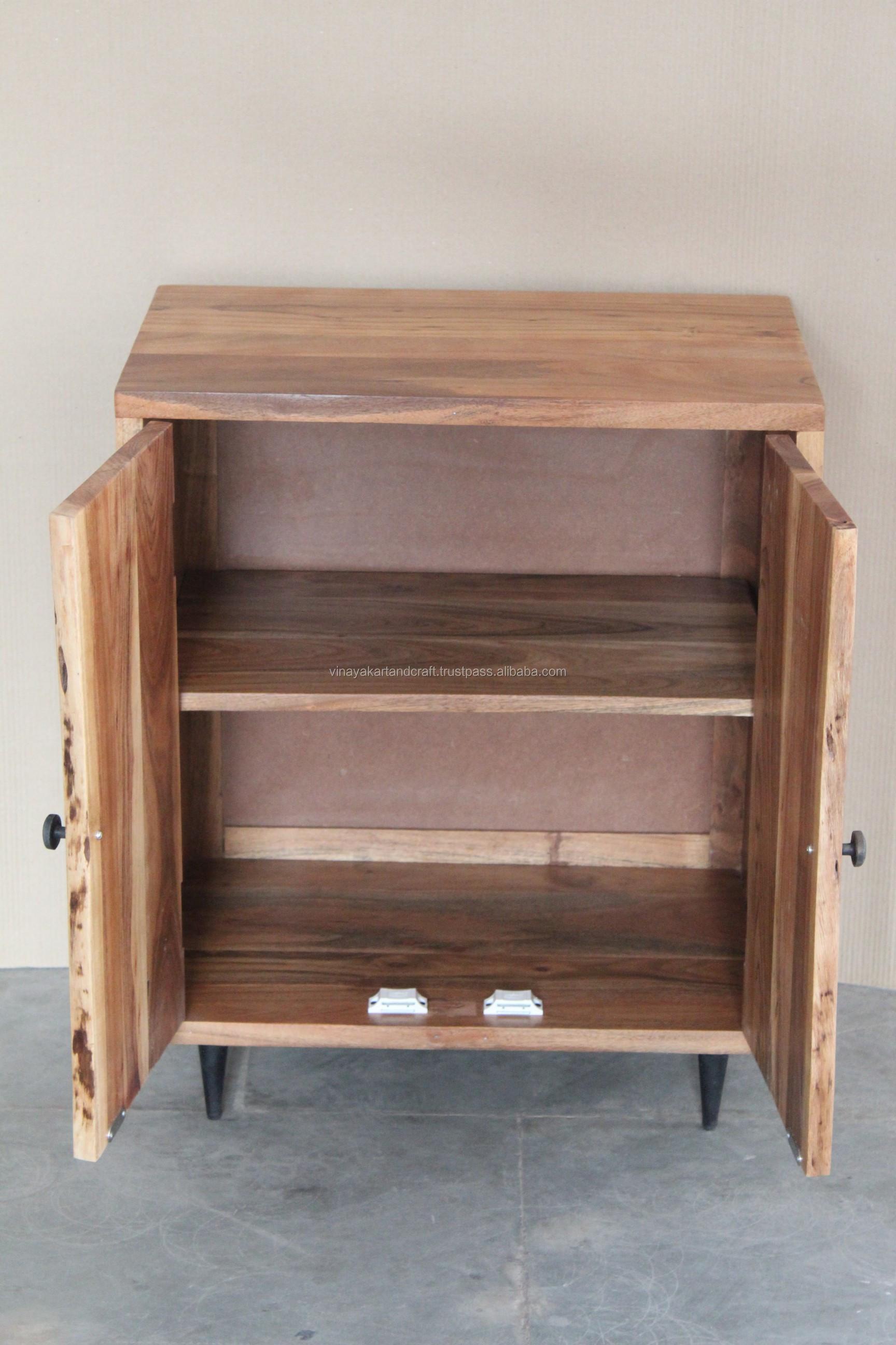 armoire de salon en bois d acacia vintage 1 piece mobilier de salon moderne en bois massif buy wooden cabinet vitrine living room cabinets modern