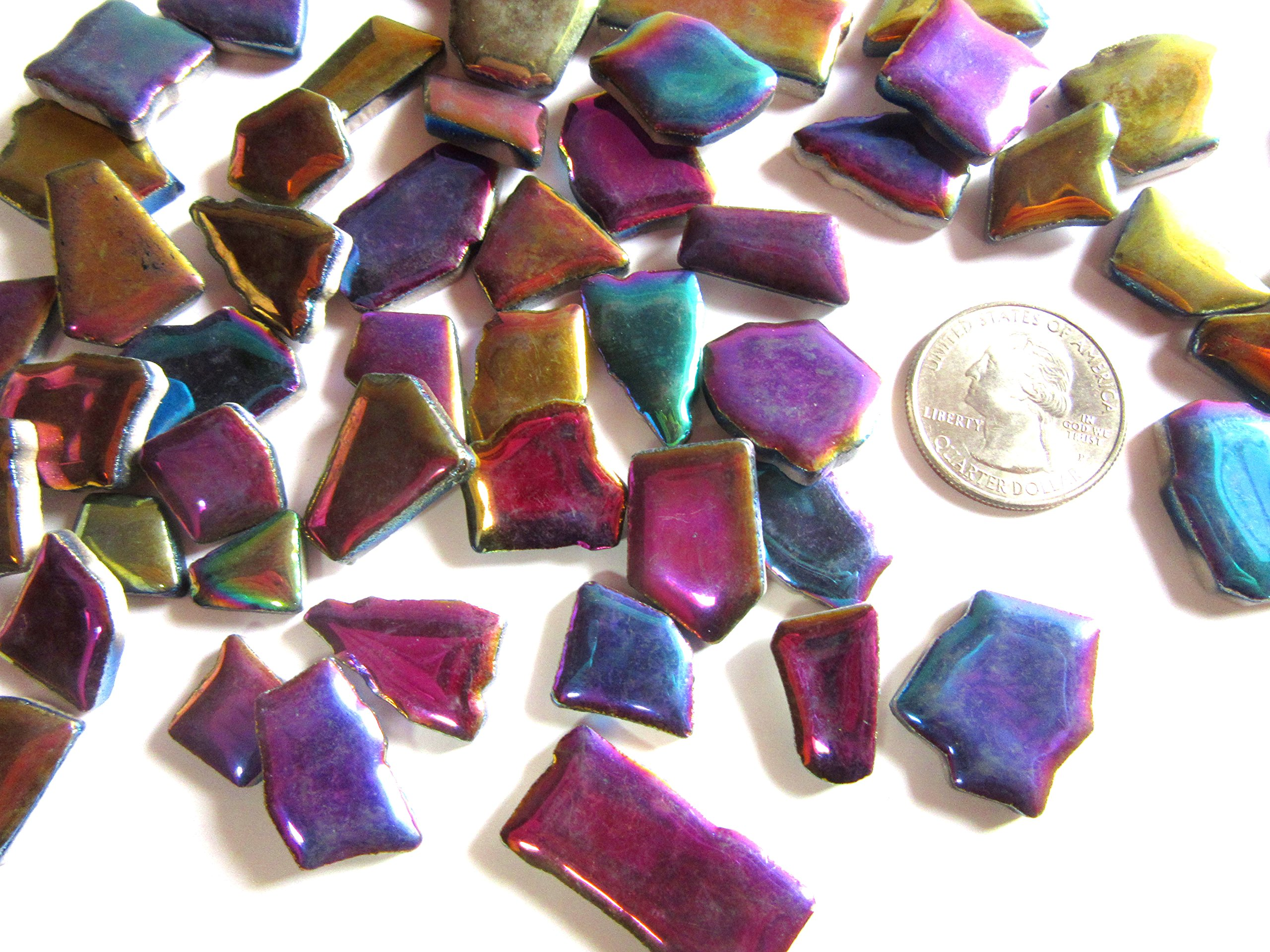 buy 50 colorful iridescent mosaic tiles
