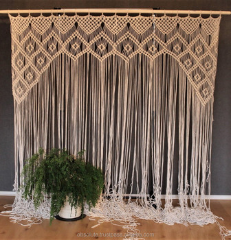 Macrame Handmade Curtain Door Curtain Wedding Backdrop Buy Macrame CurtainWedding Backdrop