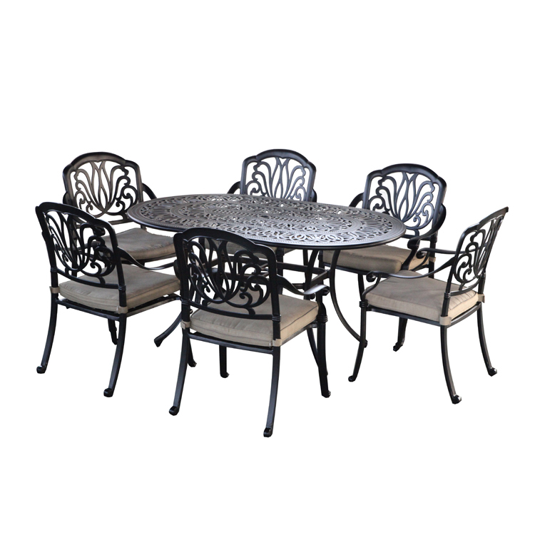 garden oval cast aluminum patio furniture 6 seater patio set buy aluminum patio furniture oval cast aluminium patio set 7 piece cast aluminum