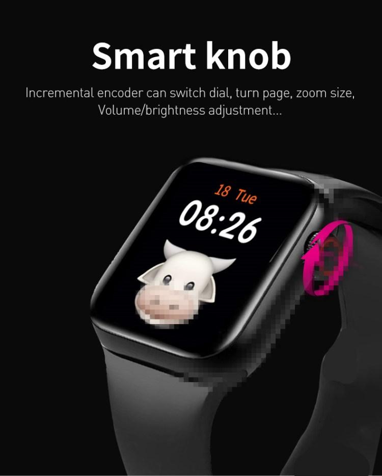Original U88 Watch Series 6 Smart Watch Women Men Support Blood Pressure Standby Time 40 Days Heart Rate Smartwatch For IOS