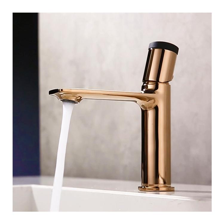 new design rose gold basin mixer faucet brass bathroom water mixer tap modern vanity faucets buy modern vanity faucets water mixer tap with ceramic cartridge zinc handle faucet product on alibaba com