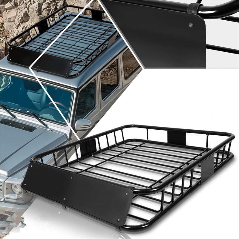 steel roof rack van buy steel roof rack van suv baggage cargo carrier basket with wind fairing van roof product on alibaba com