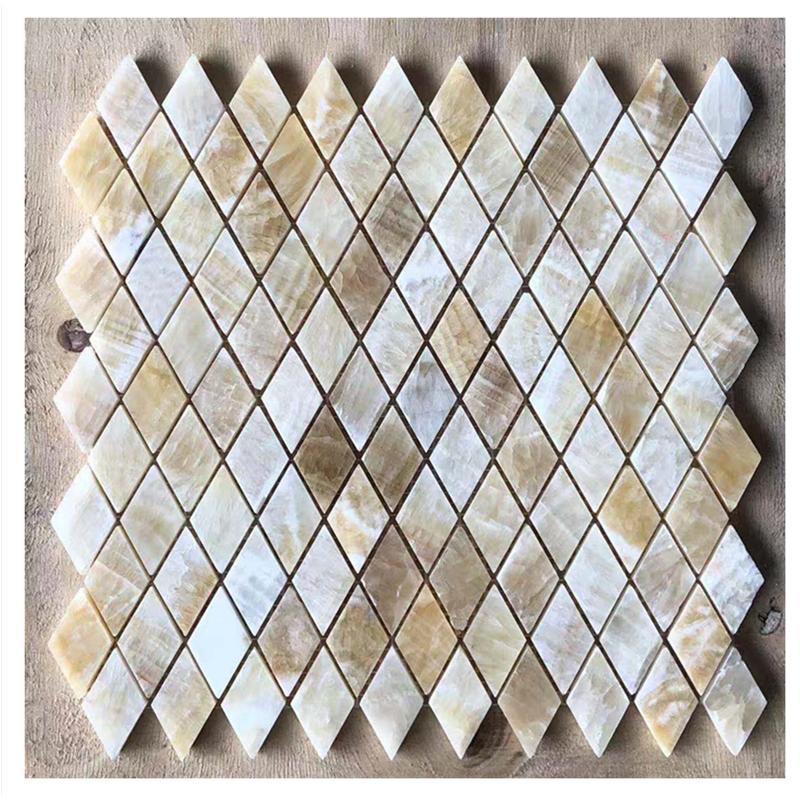 luxury stone honey onyx marble diamond mosaic tile buy honey onyx marble honey onyx marble diamond mosaic marble diamond mosaic tile product on