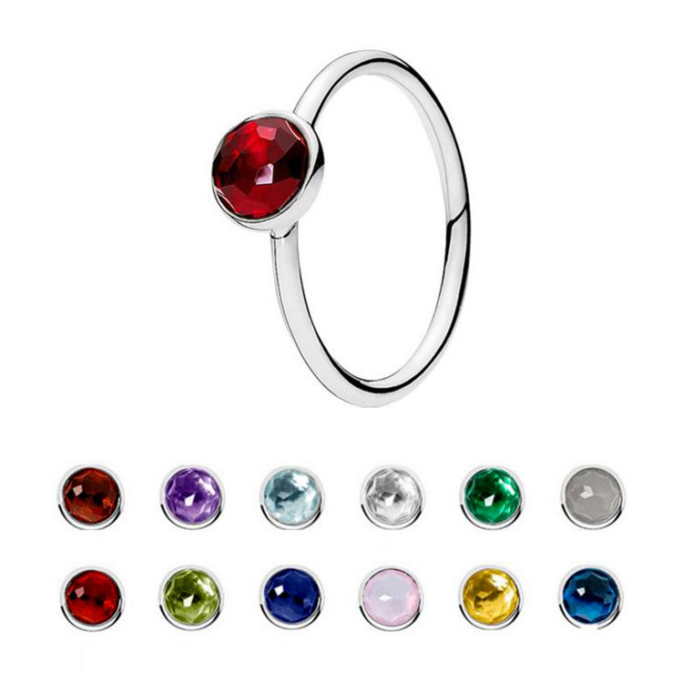 In Stock Classic 12 Months Birthstone Natural Stone 925 Sterling Silver Ring Couples Jewelry For Girlfriend Birthday Gift Buy 12 Months Birthstone Natural Stone Ring For Girlfriend Birthday Gift Couples Ring Jewelry 12