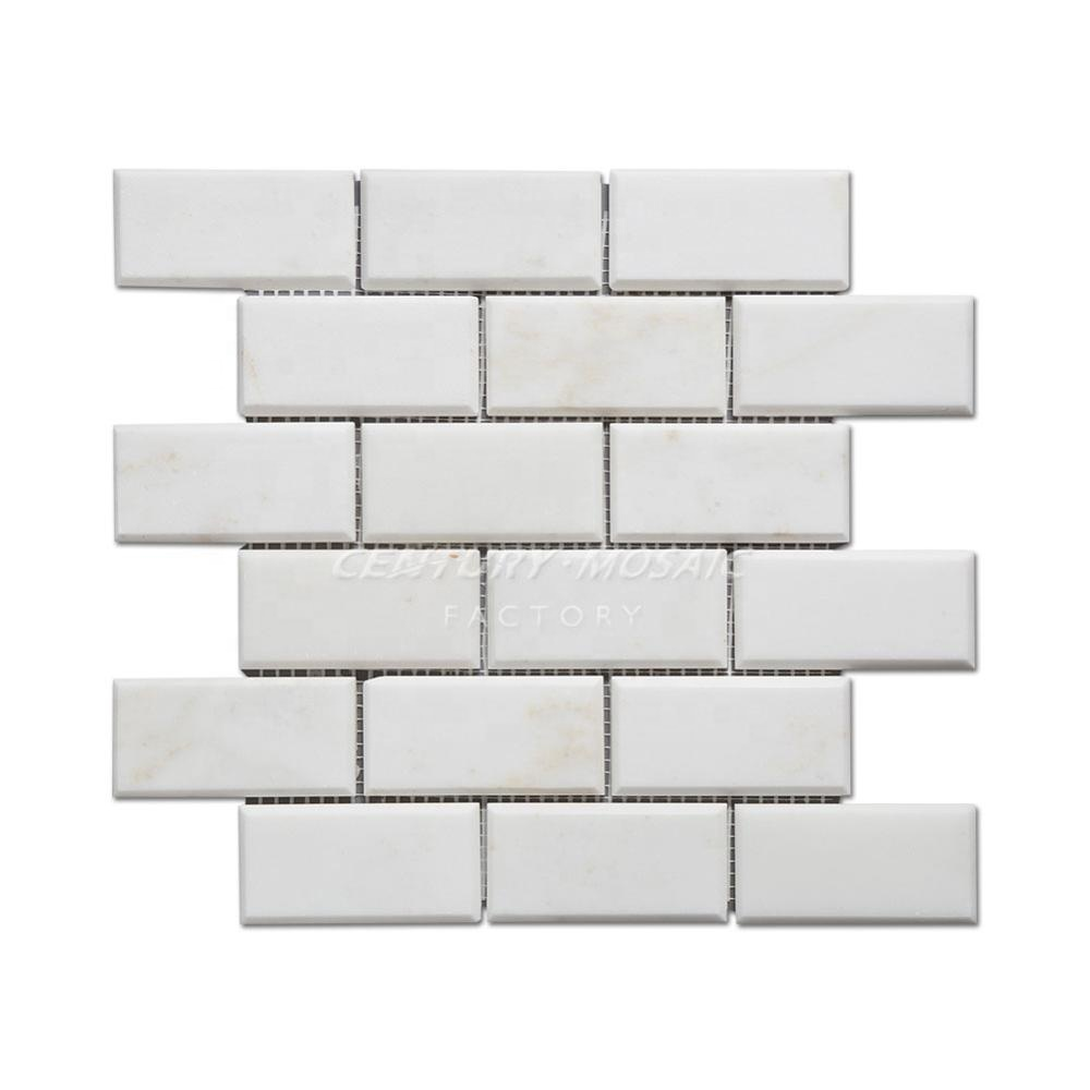 china calacatta white marble stone 2x4 subway tile beveled for sale buy stone subway tile beveled marble tiles price for hot sale wall and floor