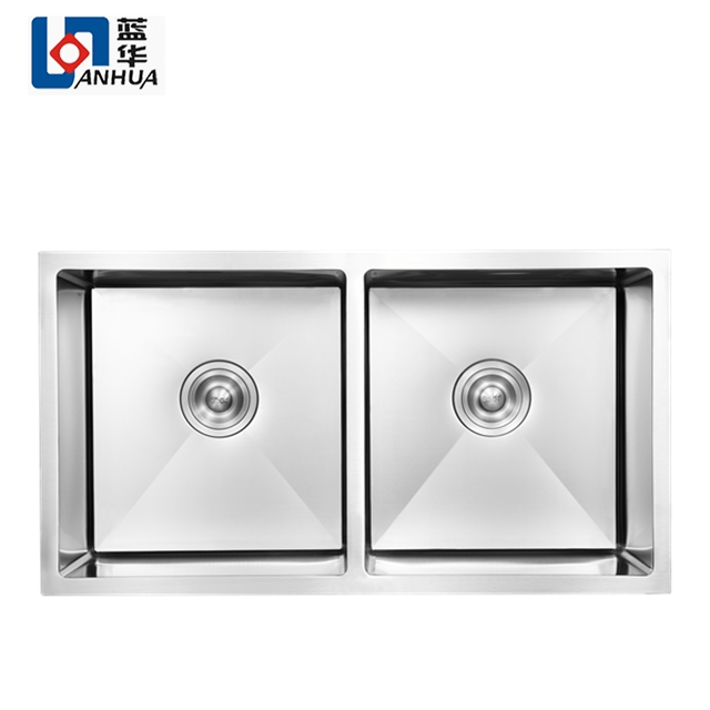 cupc approved handmade square corner undermount double kitchen sink stainless steel buy sink stainless steel undermount stainless steel sink double bowl kitchen sink product on alibaba com