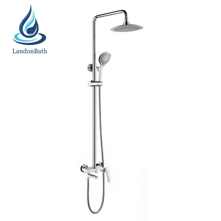 oem plumbing bathroom fitting chrome wall mounted swivel bath bathroom shower rain fall taps faucet set buy bathroom shower faucet set brass shower