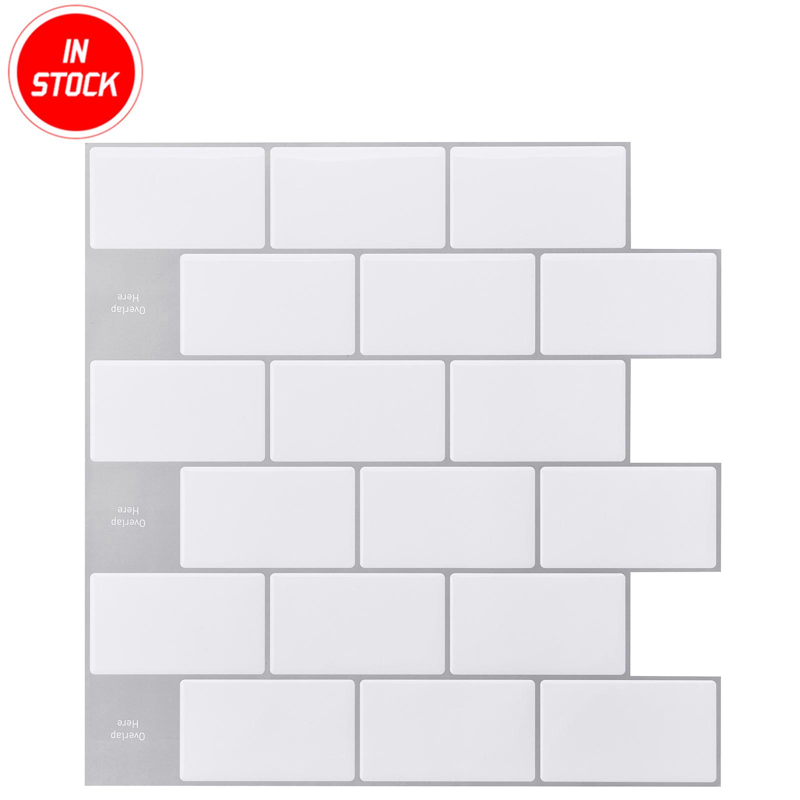 30 5x30 5cm 3d panel waterproof wall tile sticker bathroom vinyl tiles self adhesive subway white backsplash tiles for kitchen buy high quality