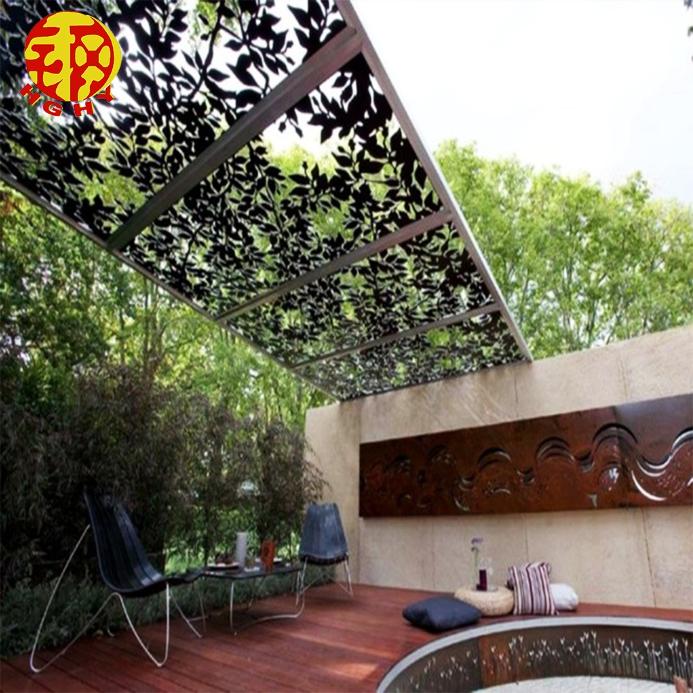 stainless steel screen partition sheet outdoor decorative steel design exterior metal wall panels view outdoor metal decorative panels hghy product