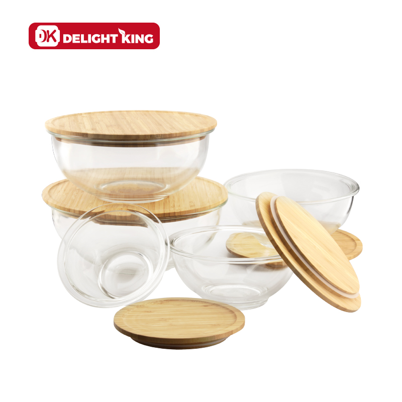 round mixing salad bowls with bamboo lid microwave oven safe glass mixing bowl dinnerware type round glass bowl for tableware buy glass salad
