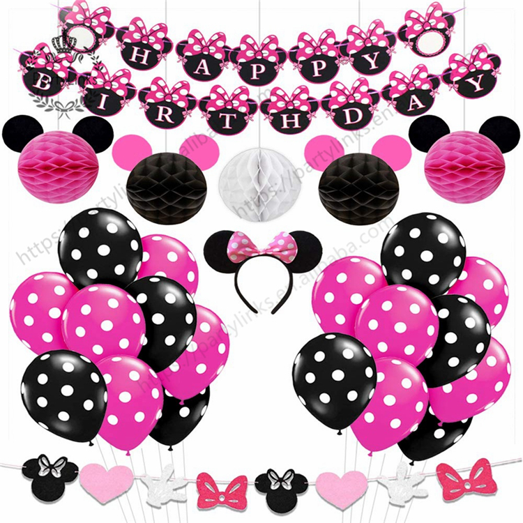 Minnie Mickey Mouse Balloons Red Black Birthday Party Decorations Minnie Headband Paper Ball Banner For Baby Show Supplies Buy Baby Shower Head Mickey Mouse Party Supplies Mickey Mouse Birthday Decorations Product On Alibaba Com