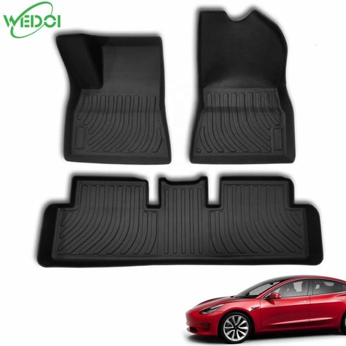 All Weather 3d Floor Mats Non Skid Floor Liners For Tesla Model 3 Complete Set Waterproof Floor Pads Buy For Tesla Model 3 Floor Mats Model 3 Accessories For Tesla Model