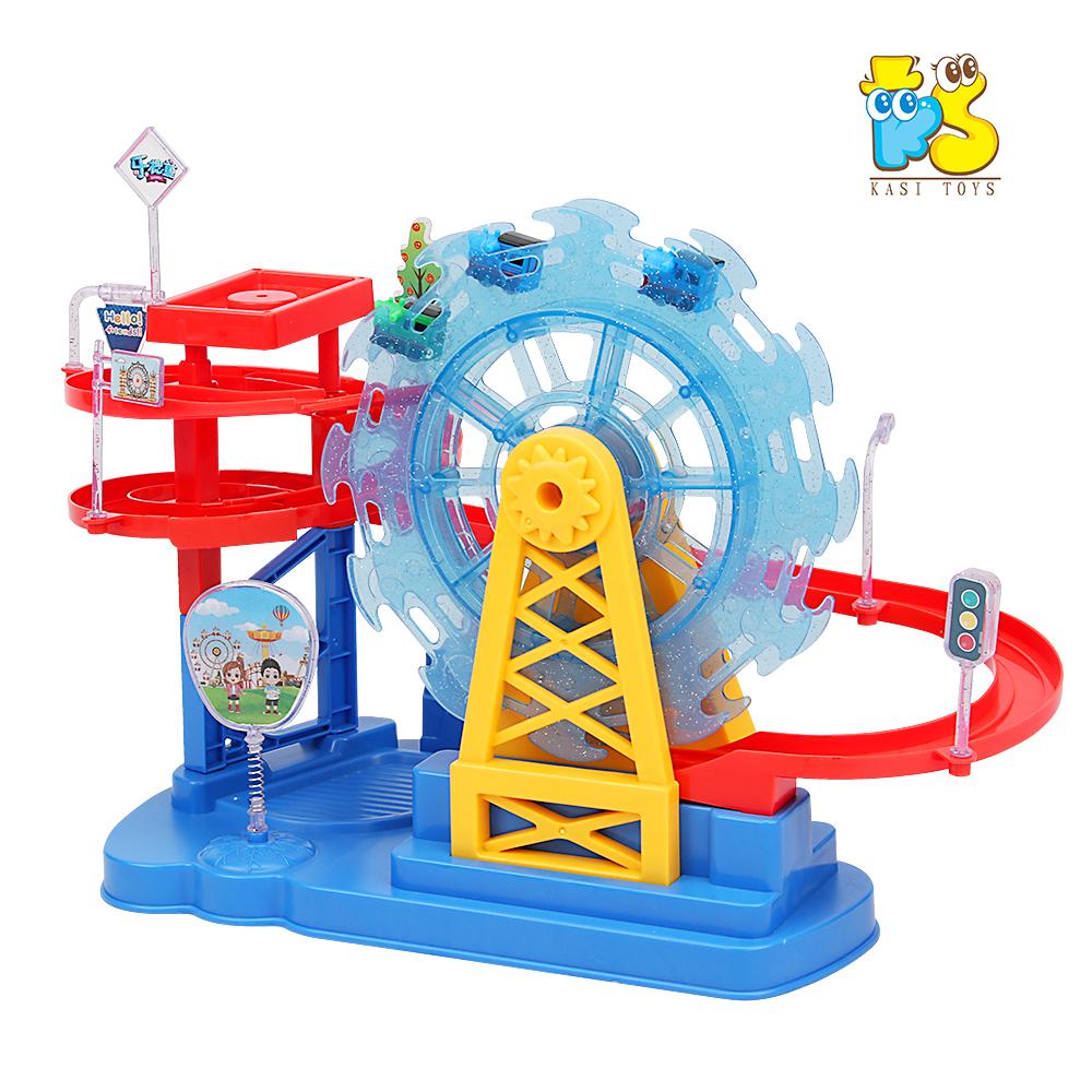 2020 ks battery wheel amusement park toy train set track lighting music electric track toy buy 2020 ks battery wheel amusement park toy train set