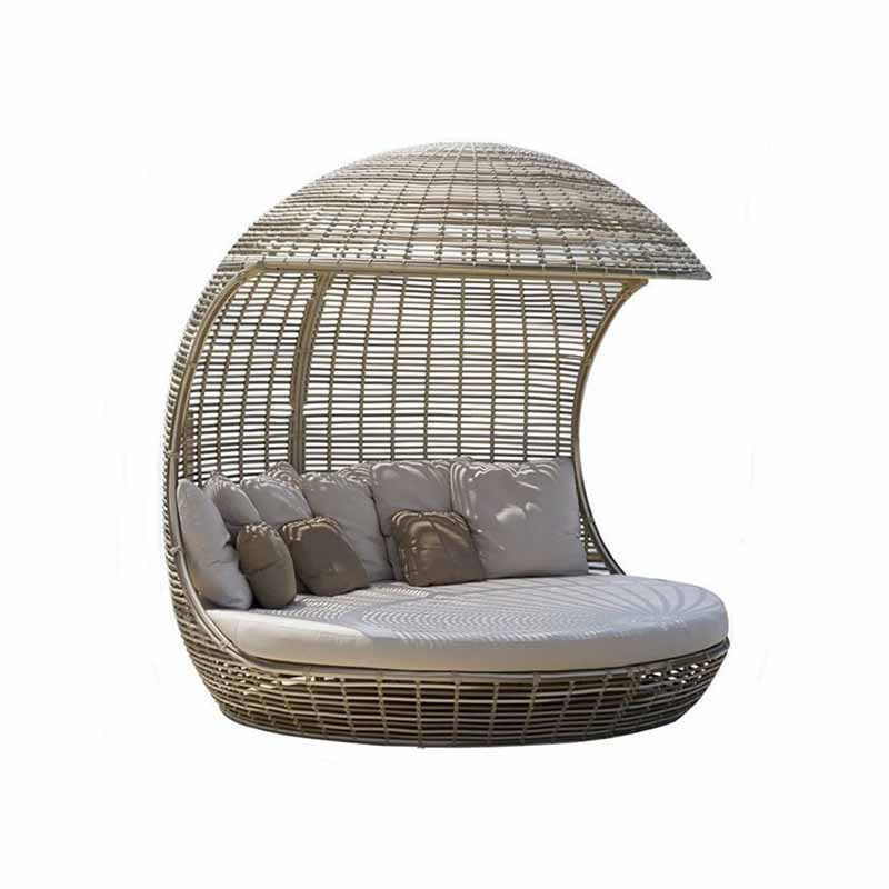 mugao rattan outdoor lounge bed outside wicker aluminium garden outdoor daybed buy outdoor daybed lounge bed garden daybed product on alibaba com