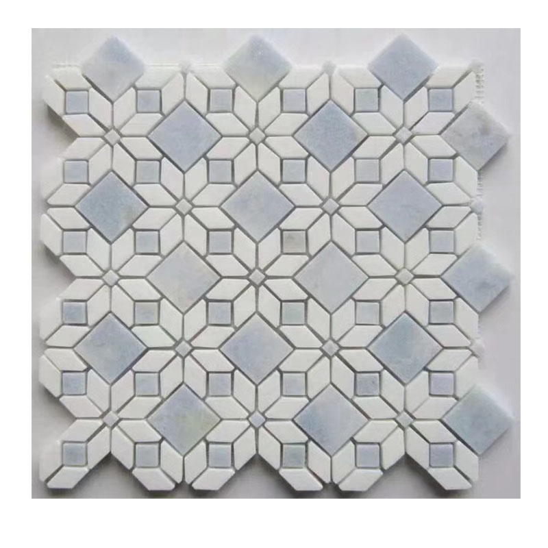 white and blue marble flower mosaic tile for bathroom tile buy marble mosaic tile flower marble mosaic tile marble mosaic product on alibaba com