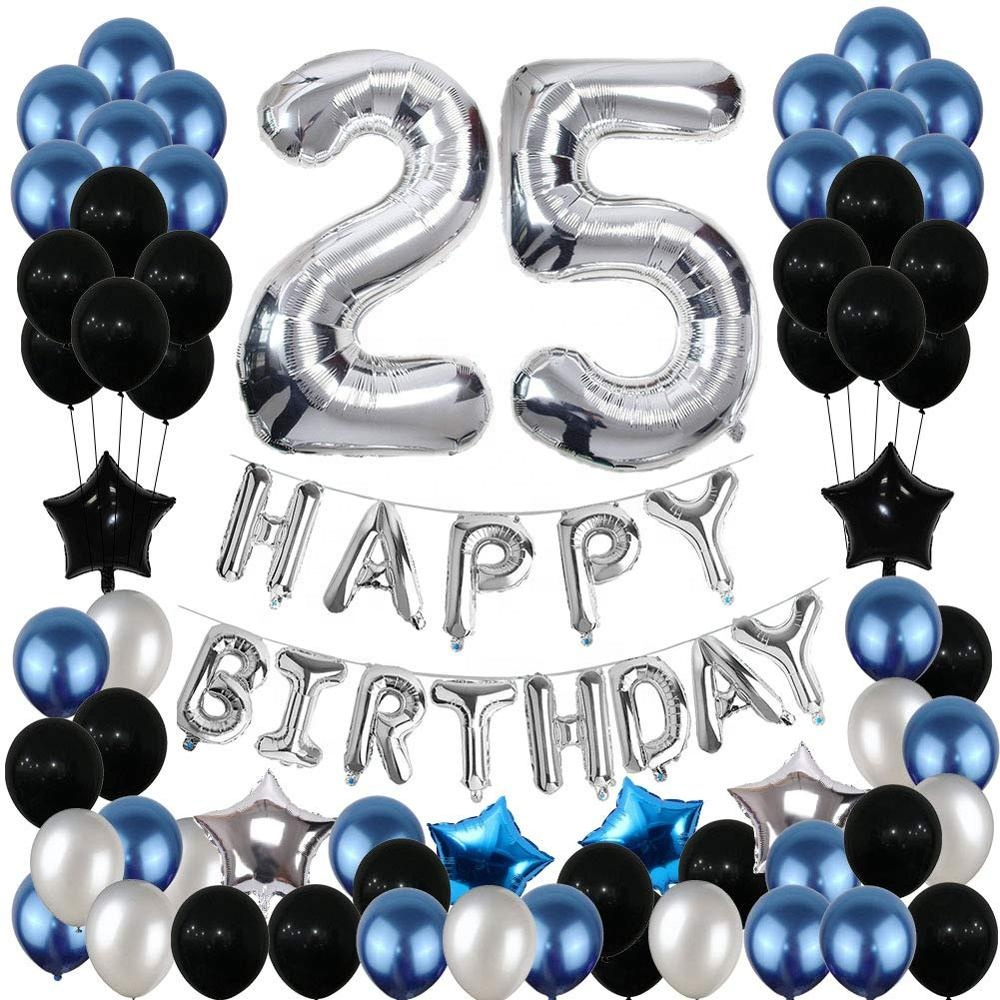 Blue Silver Birthday Party Decoration Set Birthday Party Supplies Happy Birthday Balloons Banner Party Decorations For Adult 25 Buy Birthday Party Decorations Birthday Party Supplies Happy Birthday Balloons Product On Alibaba Com