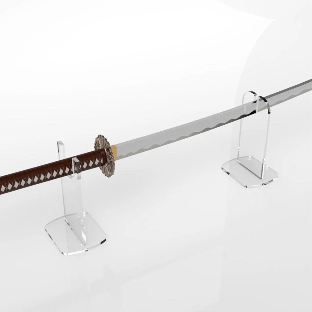 countertop clear museme weapon display rack acrylic freestanding sword holder katana stand buy sword holder katana stand museme weapon display