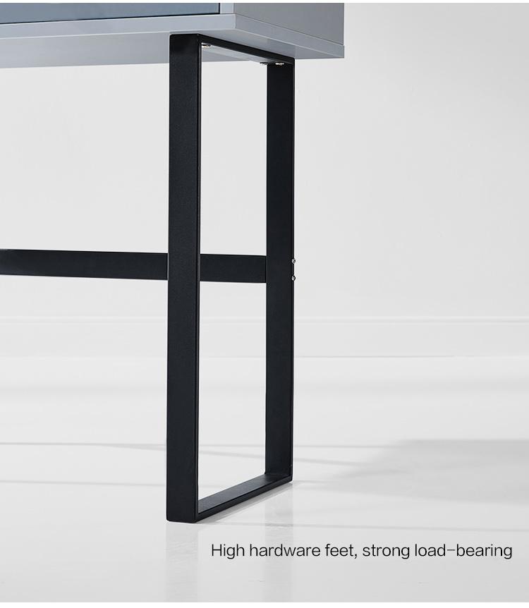 Linsy Modern Adult Nordic Bedroom Solid Wood Makeup Desk Vanity Table Small Blue Mirror Dresser Dressing Table For Girls FT1C