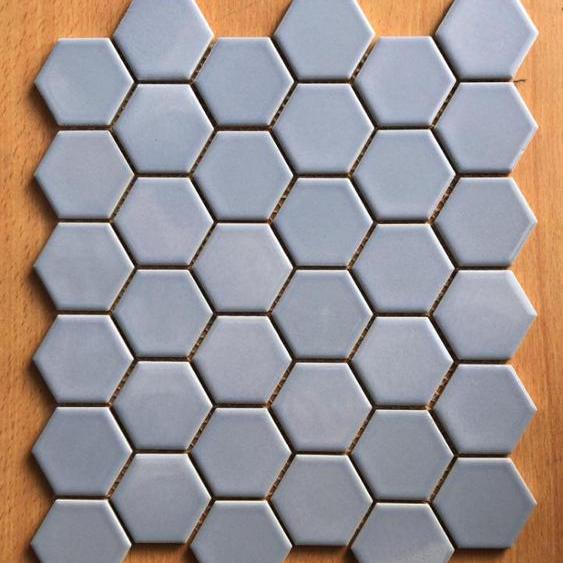 blue color hexagon porcelain mosaic tiles 1x1 inch buy 1 inch mosaic tile 2 inch mosaic tile round mosaic tile product on alibaba com
