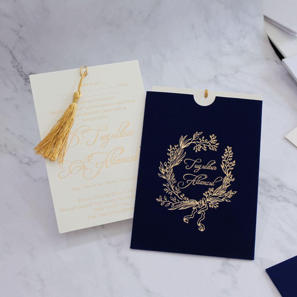 carte d invitation de mariage en velours carte de vœux personnalisee 1 piece buy personnalise cartes d invitation de mariage hindou daim cartes