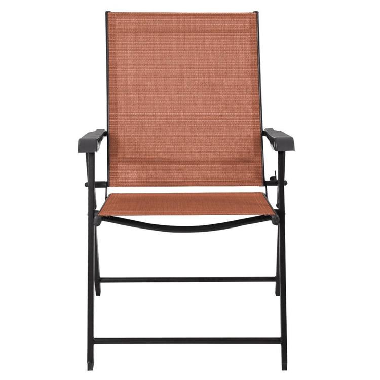 chaise pliante en acier avec bras en