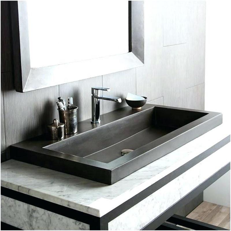 39 pure black granite stone bathroom trough sink buy granite vessel sink 39 pure black granite stone bathroom trough sink 39 pure black granite