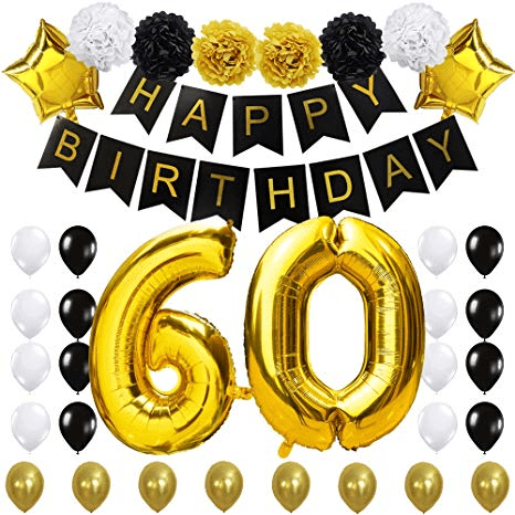 60th Birthday Party Decorations Kit For 60 Years Old Party Supplies 60th Anniversary Decorations Ideas Buy Birthday Party Supplies 60th Birthday Party Decorations 60th Birthday Party Ideas Product On Alibaba Com